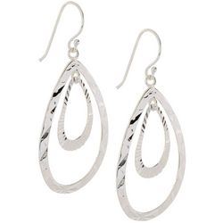 Pure 100 Double Open Teardrop Earrings