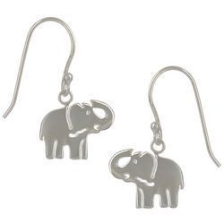 Pure 100 Silver Tone Elephant Earrings