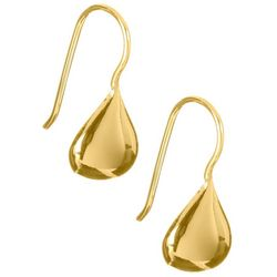 Pure 100 Gold Tone Teardrop Earrings