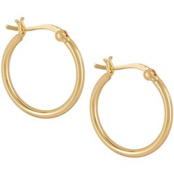 Pure 100 Gold Tone Click It Hoop Earrings