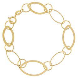Pure 100 Gold Tone Oblong Link Bracelet