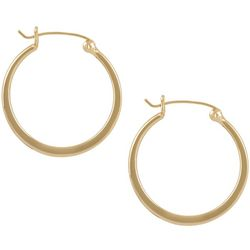 Pure 100 24K Gold Plated Over Silver Hoop Earrings