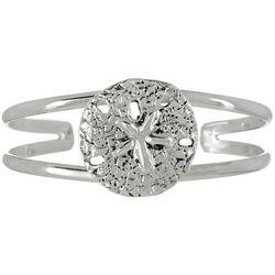 The Jewelry Network Sand Dollar Cuff Bracelet