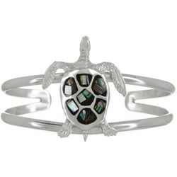 The Jewelry Network Abalone Shell Sea Turtle Cuff Bracelet