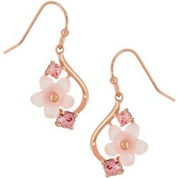 Morgan Rose Rose Gold Tone Pink MOP Flower Earrings
