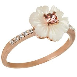 Morgan Rose MOP Flower Rose Gold Tone Ring