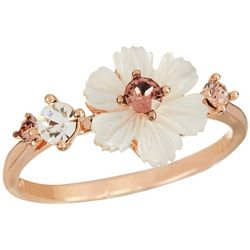 Morgan Rose Vintage Rose MOP Flower Ring