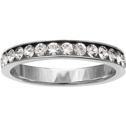 Silver Brilliance CZ Eternity Band Ring