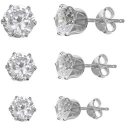 3-pc. Round CZ Earring Set