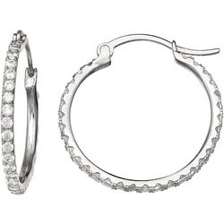 Signature 20mm CZ Hoop Earrings