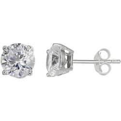 Signature 4mm Round CZ Stud Earrings