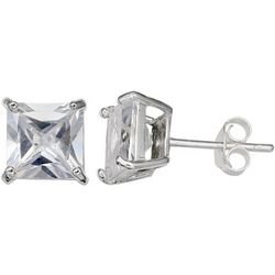 Signature Princess Cut CZ Stud Earrings