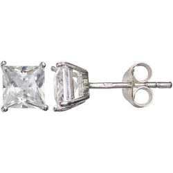 Signature Square CZ Stud Earrings