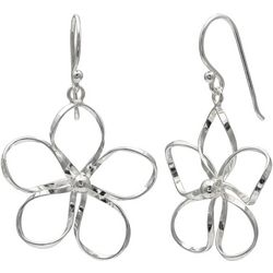Signature Sterling Silver Flower Drop Earrings