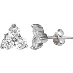 Silver Brilliance Trio Cubic Zirconia Earrings