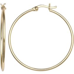 Signature 50 MM Gold Plated Hoop Earrings