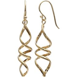 Signature Gold Plated Swirl Dangle Earrings