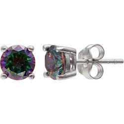 Silver Brilliance Mystic Topaz Stud Earrings