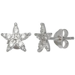 Signature CZ Starfish Stud Earrings