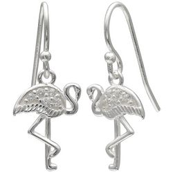 Signature Flamingo CZ Dangle Earrings
