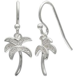 Signature CZ Palm Tree Earrings