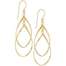 Silver Elements Gold Tone Multi Teardrop Earrings
