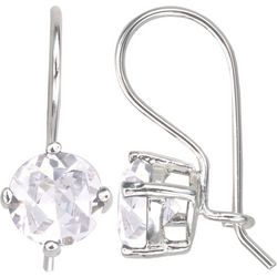 Signature Sterling Silver CZ Drop Earrings