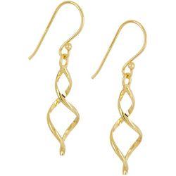 Silver Elements Gold Tone Twist Earrings