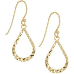 Silver Elements Gold Tone Teardrop Earrings