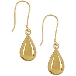 Silver Elements Gold Tone Single Teardrop Earrings