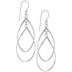 Silver Elements Silver Tone Multi Teardrop Earrings