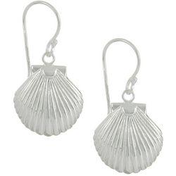 Silver Elements Coastal Shell Drop Earrings
