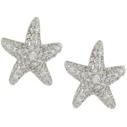 Silver Elements Silver Tone Starfish Stud Earrings
