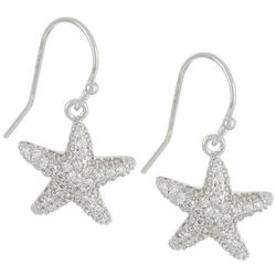 Silver Elements Silver Tone Starfish Drop Earrings