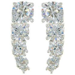 Silver Elements Cubic Zirconia Cascading Earrings