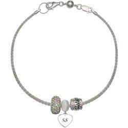 Genuine Sterling Silver Sister Charm Bracelet