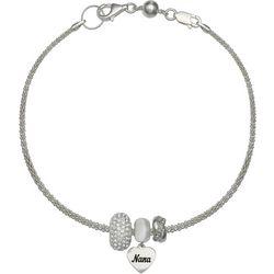 Genuine Sterling Silver Nana Charm Bracelet