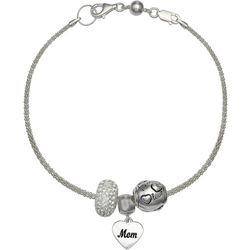 Genuine Sterling Silver Motherly Love Charm Bracelet