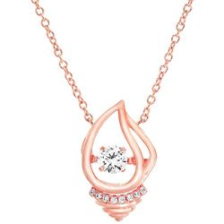 Signature Rose Gold Tone Shell Pendant Necklace