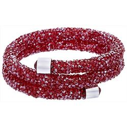 Crystal Energy Red Double Wrap Coil Bracelet