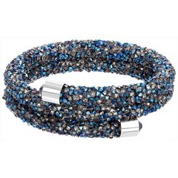 Crystal Energy Blue Multi Crystal Elements Coil Bracelet