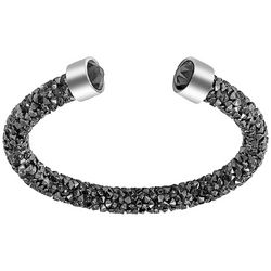Crystal Energy Dark Grey Hematite ToneCrystal Cuff Bracelet