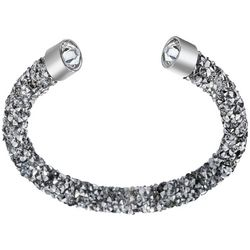 Crystal Energy Silver Tone Crystal Elements Bracelet