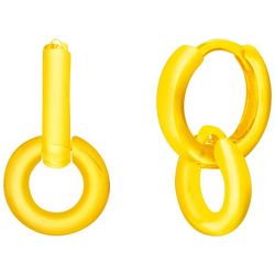 Paige Harper Gold Plated Double Hoop Huggie Earrings