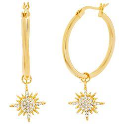 Paige Harper Crystal Star Click It Hoop Earrings