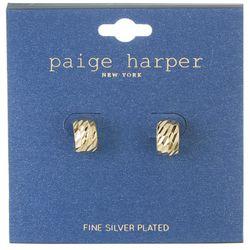 Paige Harper  Textured  Small Half Hoop Earrings