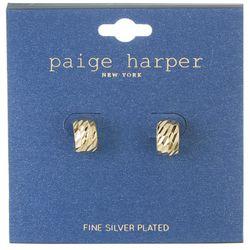 Paige Harper  Textured  Small Half Hoop Earrings