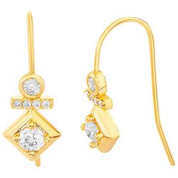 Paige Harper Crystal Accent  Stacked Shapes Hook Earrings
