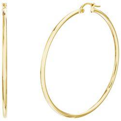 Paige Harper 40MM Gold Plated  Hoop Earrings