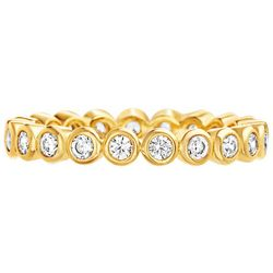 Paige Harper CZ Silver Plated Bezeled Eternity Ring